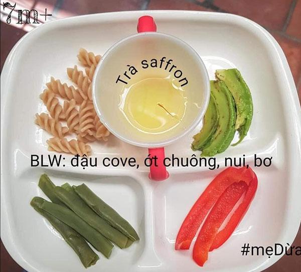 Thực đơn ăn dặm BLW kết hợp truyền thống 2