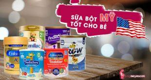 Sữa công thức của Mỹ tốt cho bé