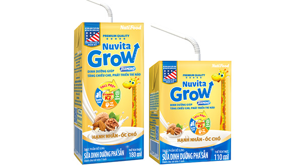 Sữa bột pha sẵn Nuvita Grow Diamond