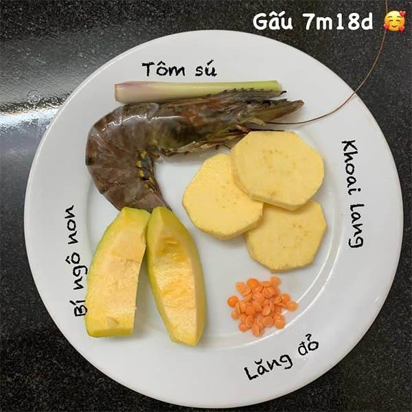 Thực đơn cho bé 7 tháng tuổi ăn dặm truyền thống (7)
