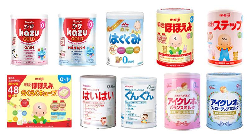 Sữa Nhật cho trẻ sơ sinh loại nào tốt