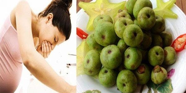 Thành phần Vitamin B6 trong quả sung có tác dụng hạn chế tình trạng ốm nghén