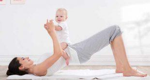 Tập luyện cùng bé giúp mẹ giảm cân sau sinh