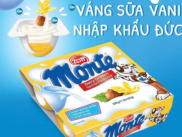 Váng sữa Monte của thương hiệu nào?