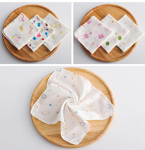 Khăn sữa in hoa Nhật 100% làm từ cotton